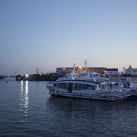 La nuit tombe sur la rade de Brest
