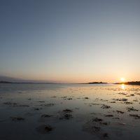 Crépuscule sur la plage du vougot