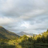 Reflet crépusculaire en Haute Savoie
