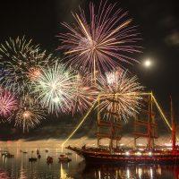 Feux d'artifice de clôture des fêtes maritime de Brest 2016