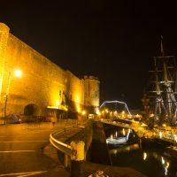 L'Hermione sous le fort de Brest