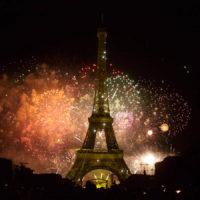 Feux d'artifice du 14 Juillet sur la tour Eiffel, Champs de Mars